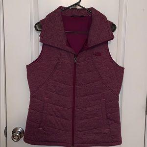 The north face plum color vest size L